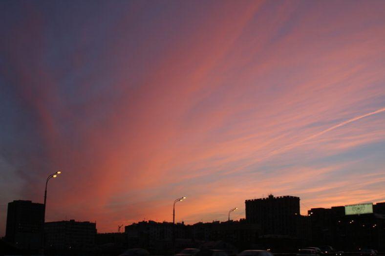 Небо здесь - небо закат фото фотосайт