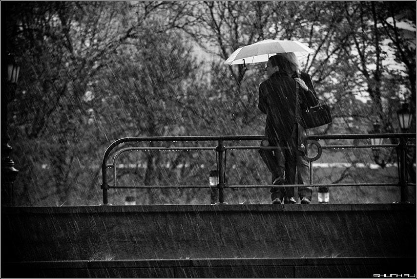 Зонт черно белая он она фото фотосайт