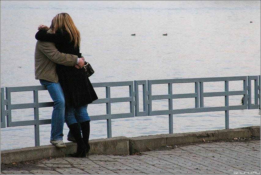Дважды два - парочка утки осень вода фото фотосайт