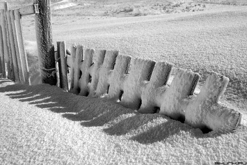 Так сказать.... ЗИМА - зима забор снег луна свет фото фотосайт