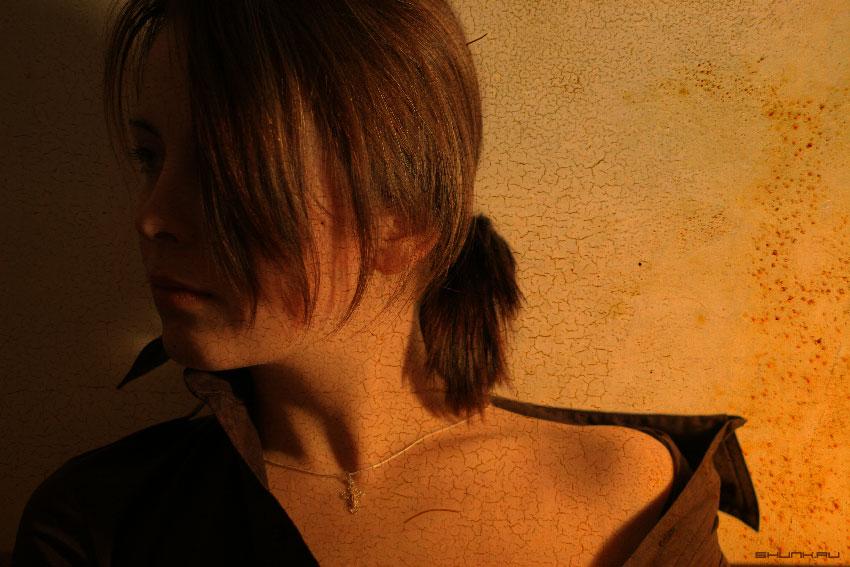 Пробы пера - портрет бедной девушки фото фотосайт