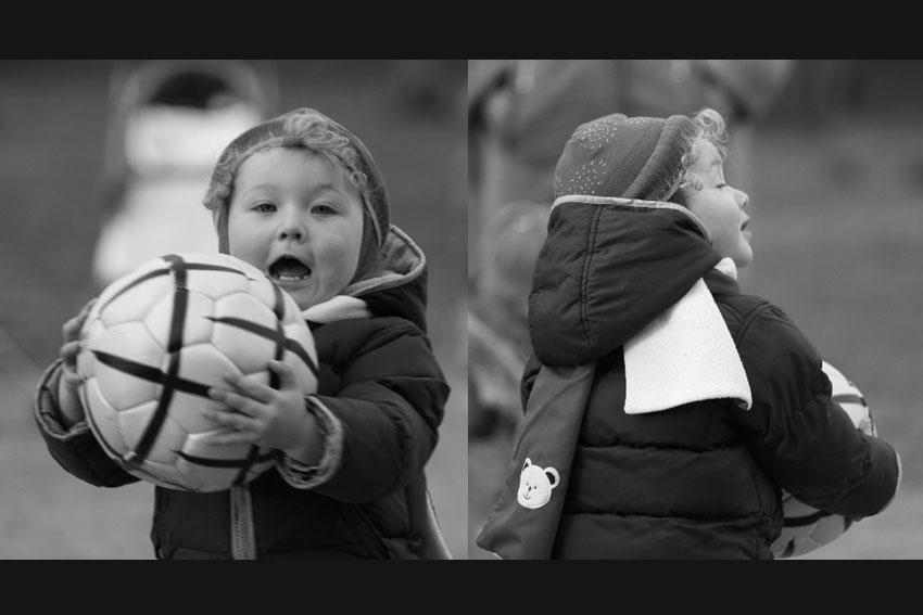 ...еще немного о футболе - малыш мяч чб черно-белое фото фотосайт
