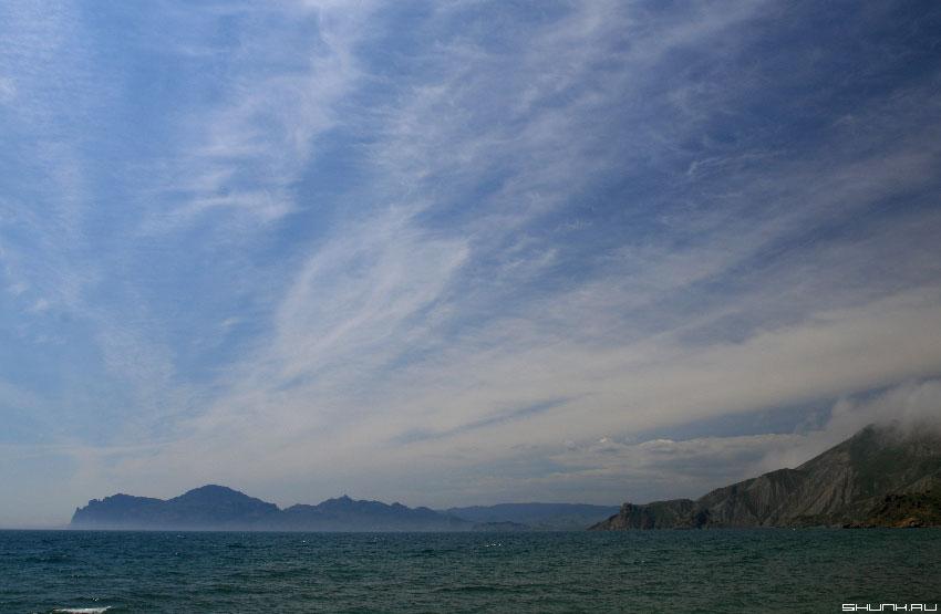 Небо над самым старым вулканом - небо крым кара-даг фото фотосайт