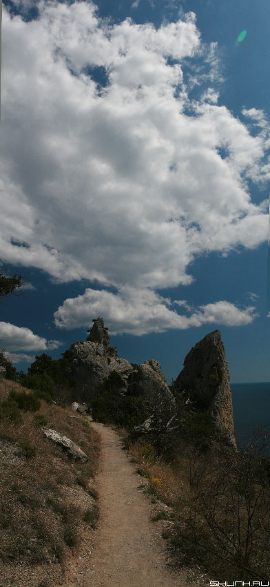 Дорога в облака - панорама крым фото фотосайт
