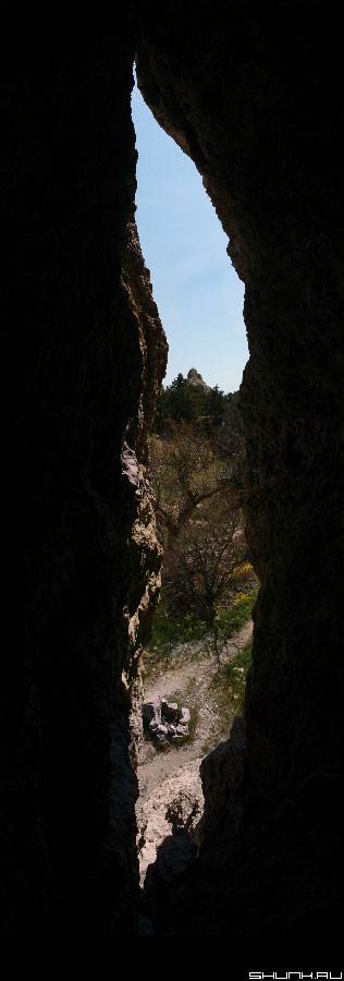 Вид из ущелья - Крым панорама фото ущелье фото фотосайт