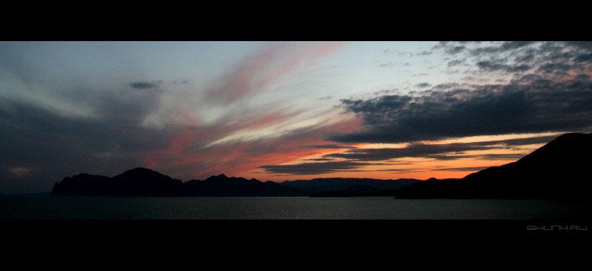 Вечер в Крыму - небо море закат фото фотосайт