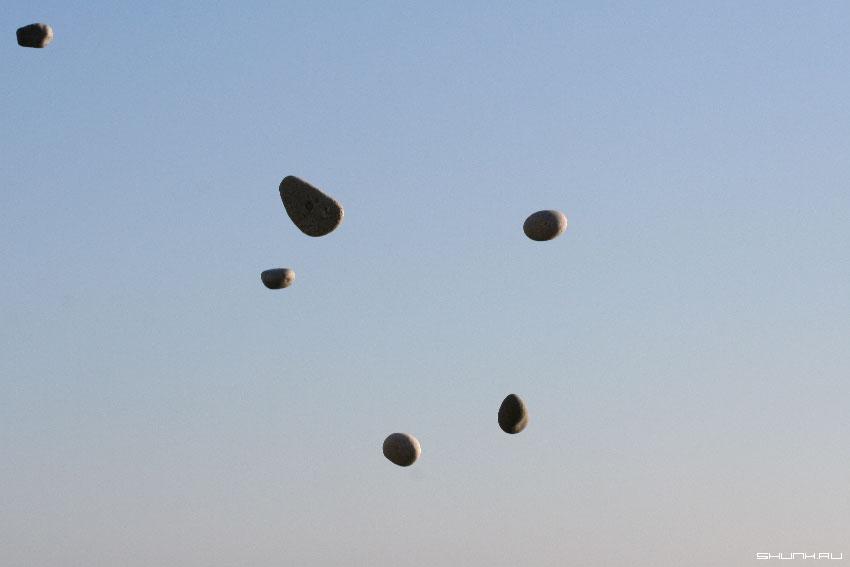 5 + 1 - камни море обои небо фото фотосайт