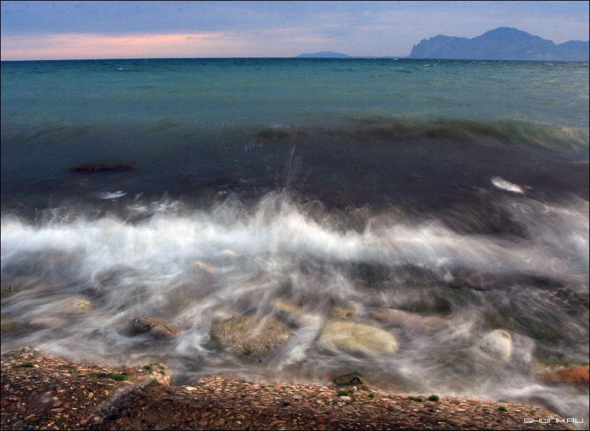 Морской прибой - крым море кара-даг фото фотосайт