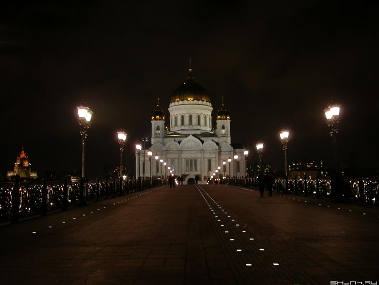 Храм Х.С. - храм христа ночь москва фото фотосайт