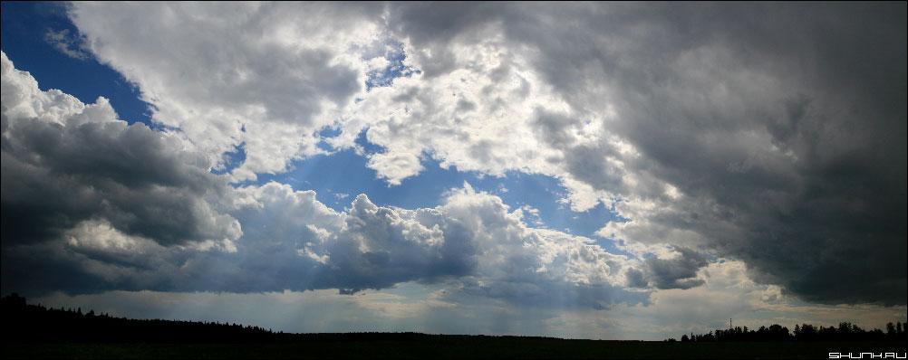 Небо здесь - облака облака облака небо лучи солнце сквозь облака фото фотосайт