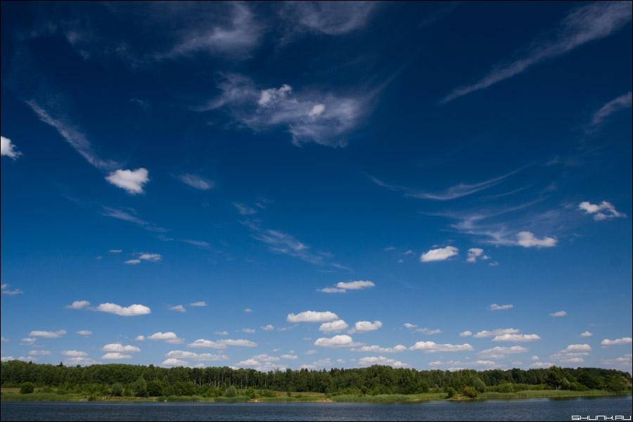 Мои родные красоты - река небо облачка фото фотосайт