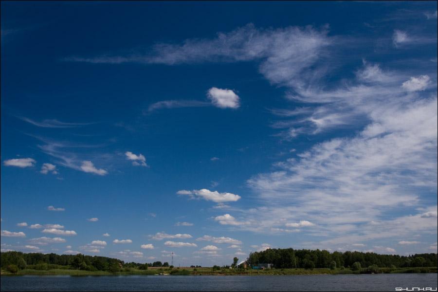 Люблю я небо - небо лето река облака фото фотосайт