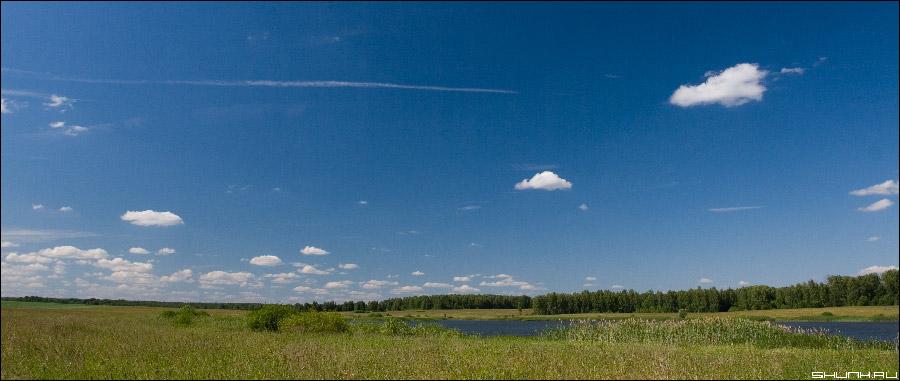 Панорама лета - небо лето облака фото фотосайт