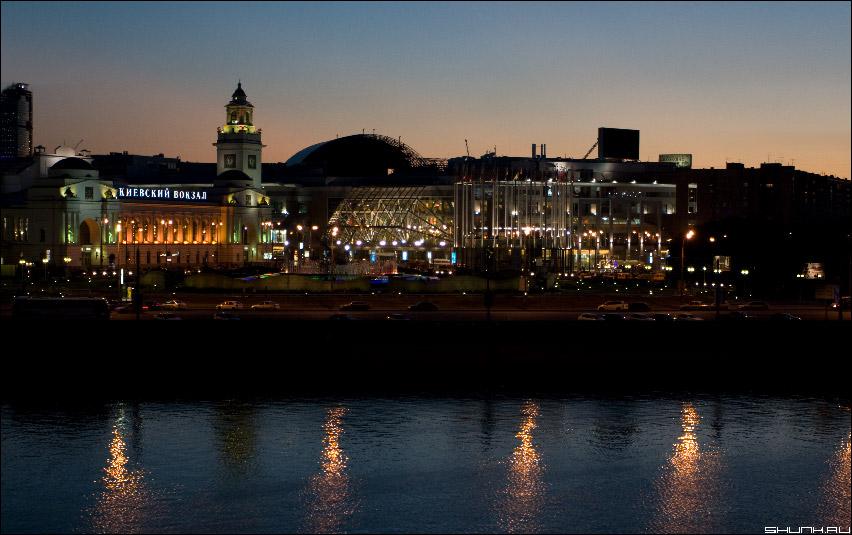 Киевский вокзал - ночная москва ночной город вокзал фото фотосайт