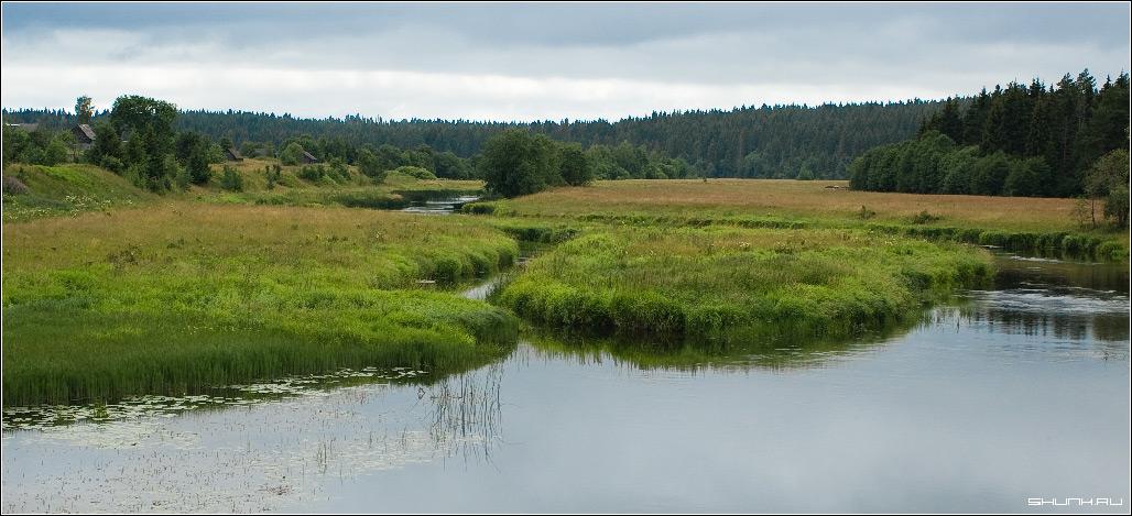 Речка, речушка - деревня речка просторы лето фото фотосайт