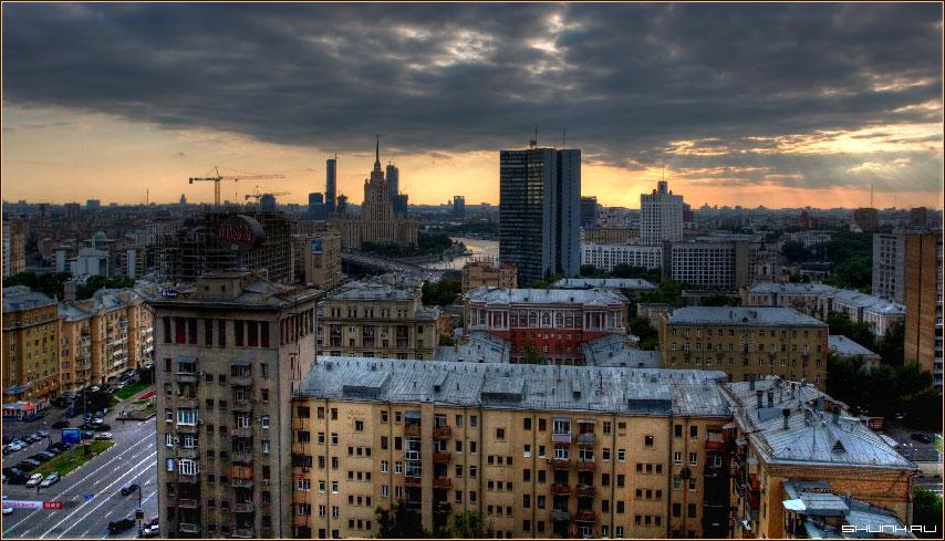 Украина в Москве (HDR) - Москва вид с высотки HDR пробы фото фотосайт