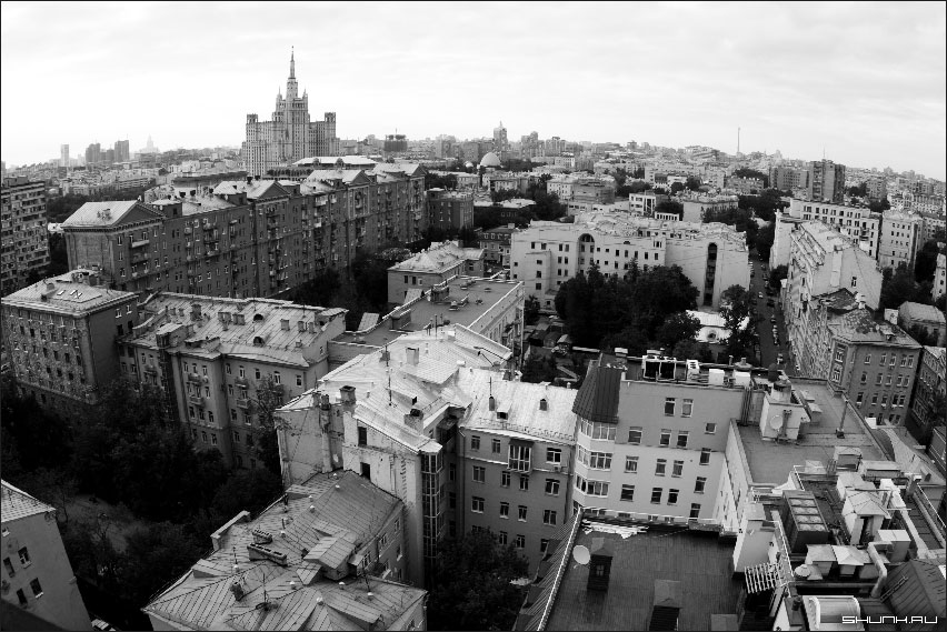 Планета Москва - москва вид с башня новый арбат чб фото фотосайт