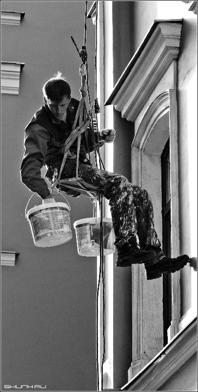 Есть такая профессия - маляр верхолаз промышленный альпинизм фото фотосайт