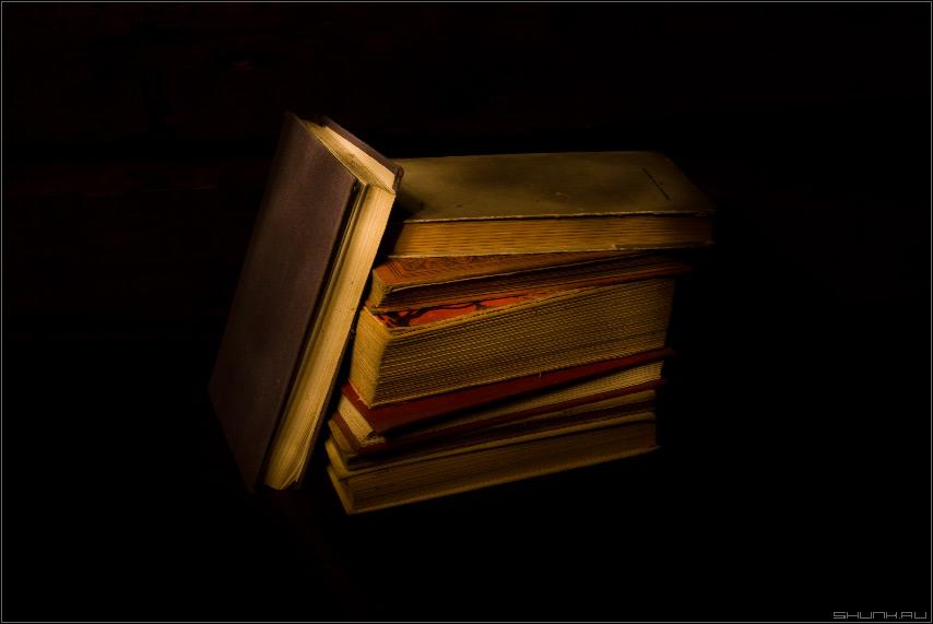 Непрочитанное - книги натюрморт пробы фото фотосайт