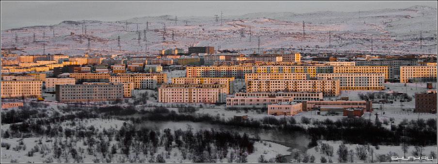 Вид на Никель - никель зима снег город фото фотосайт