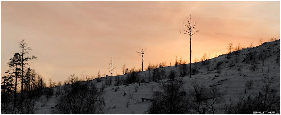 Закат за горой - никель окрестности фото фотосайт