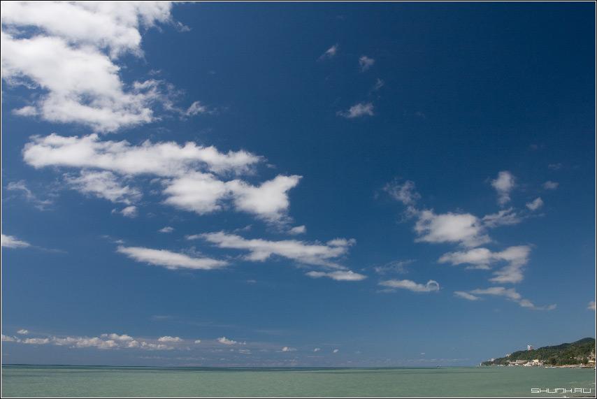 Кусочек Сочи - сочи небо море обои облака сентябрь фото фотосайт