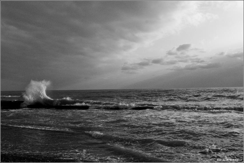 Маленькая буря - сочи хоста море волна вода небо фото фотосайт