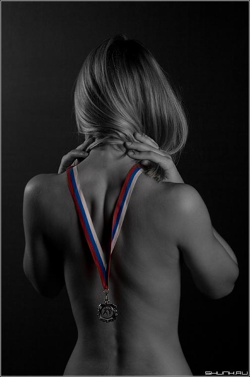 Про спортивные достижения - студия портрет девушка фото фотосайт