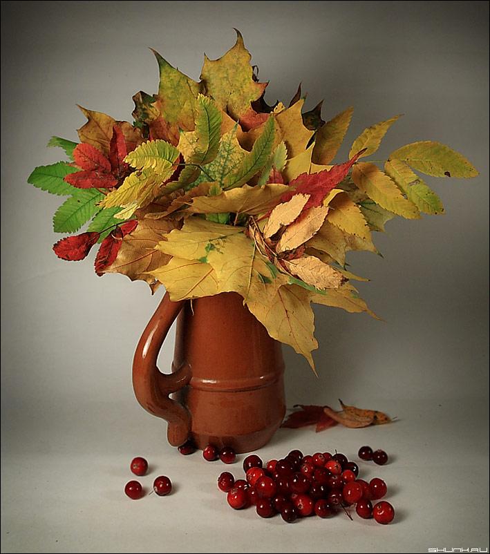 Букет осени - натюрморт букет листья осень фото фотосайт