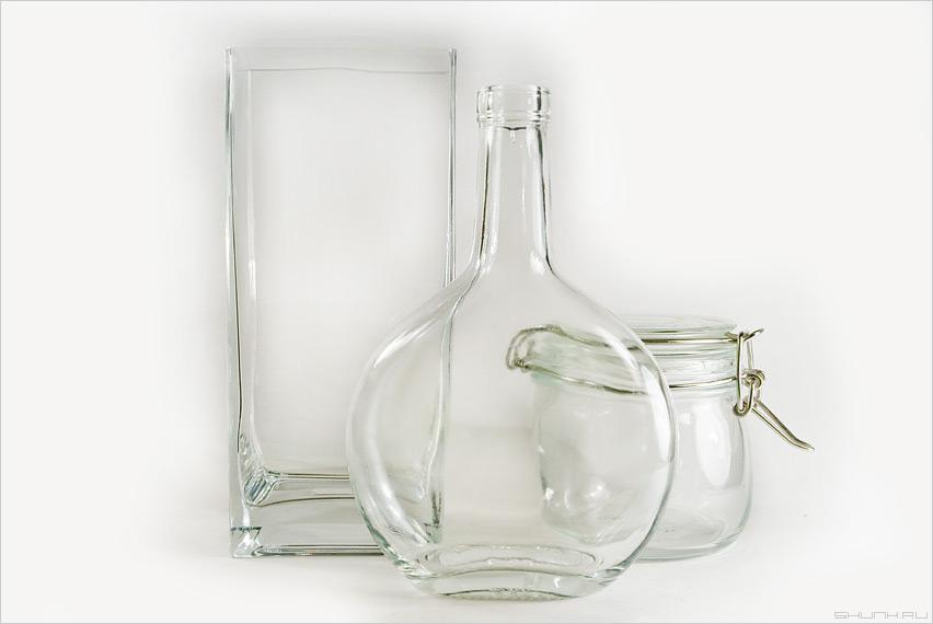 Стеклянная тема - стекло белый свет бутылка банка и икеевская хреньобои фото фотосайт