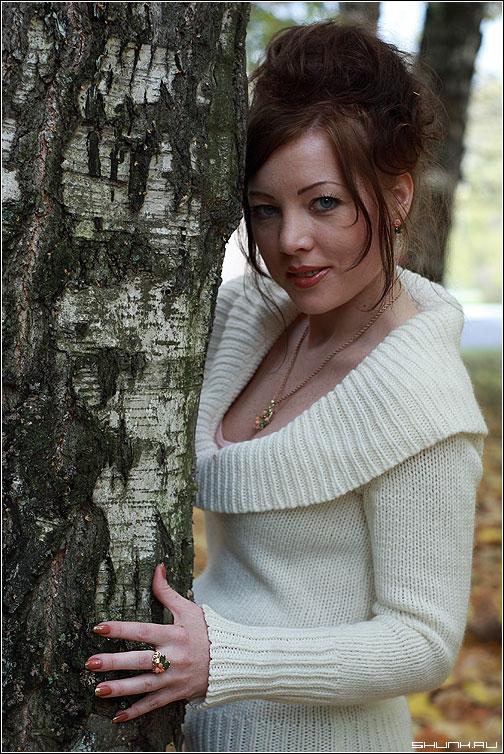 Св. Елена - портрет осень белый девушка фото фотосайт