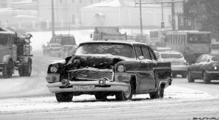 Разбитое корыто... - машина снег зима чайка фото фотосайт