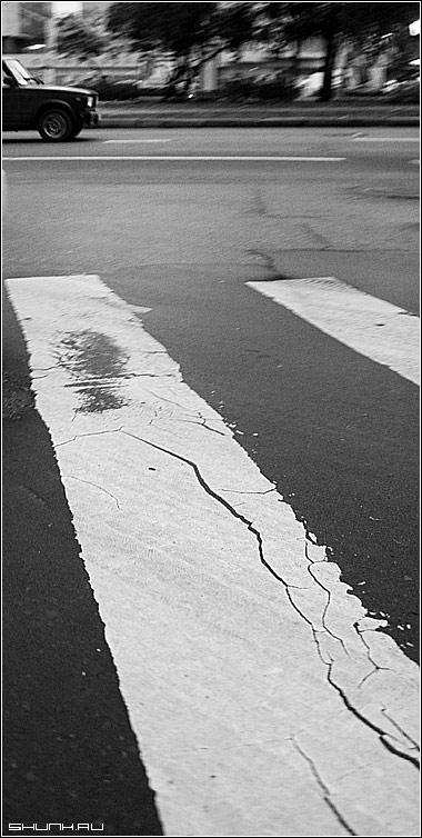 Случайный кадр - авто чб чернобелое фото фотосайт
