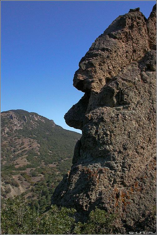 Профиль - кара-даг горы профиль крым фото фотосайт
