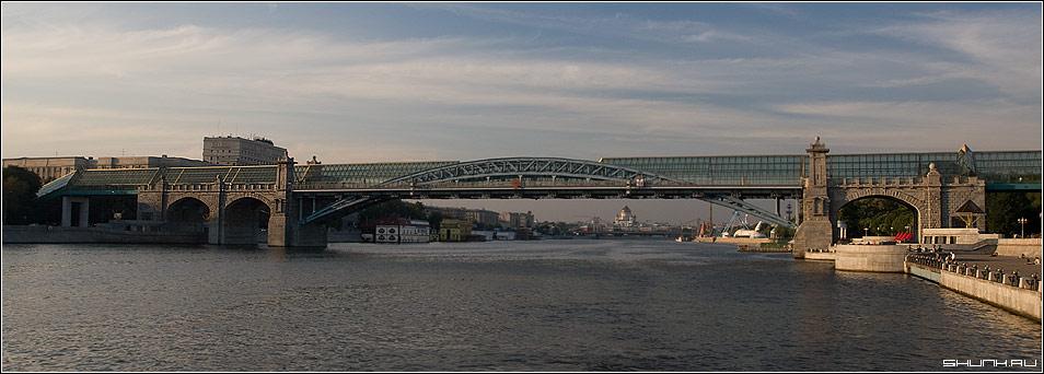 Пешеходный мост - мост москва река фото фотосайт