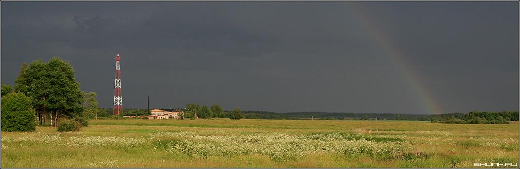 Радуга Дуга - радуга небо дождь полен вышка сотовая фото фотосайт