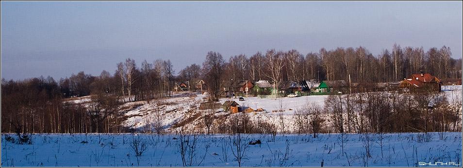 д. Рубцово - деревня дома зима снег рубцово фото фотосайт