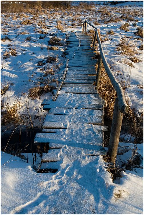 Мост - ильинское мост через реку зима фото фотосайт