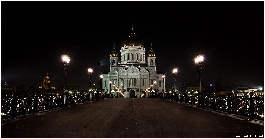 С Рождеством! - ХХС храм ночь москва фото фотосайт