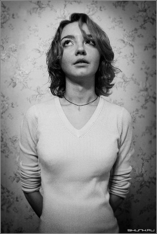 ЧБ портрет sup 7561/sup - чб портрет девушка лиза.