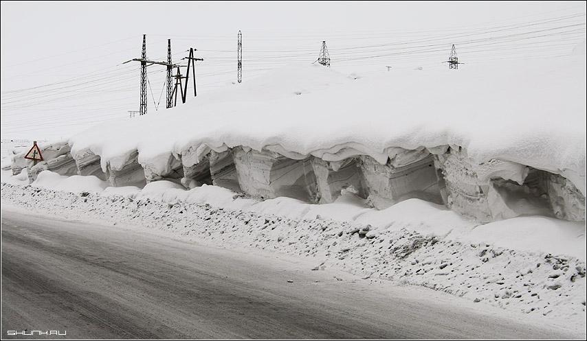 Намело - сугробы никель дорога снег фото фотосайт