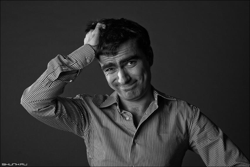 Ё-мое - майс студия рубашка полоски черно-белое фото фотосайт