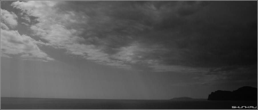 Градиент неба - небо крым море древний вулкан кара-даг фото фотосайт