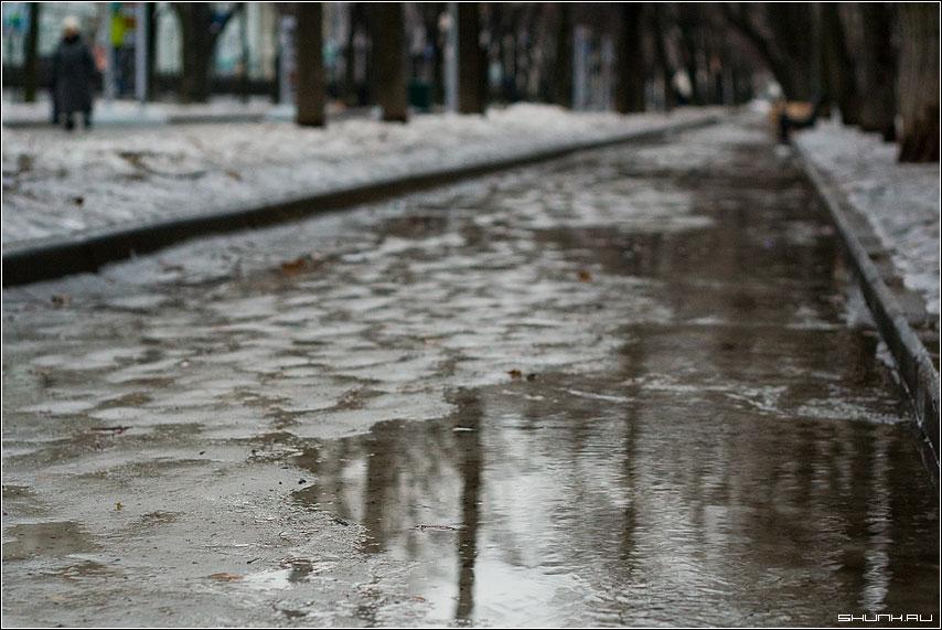 Весна 2008 - весна лужи кнец февраля тверской бульвар фото фотосайт