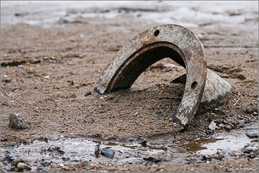 Полная труба - труба песок берег весна ручей фото фотосайт