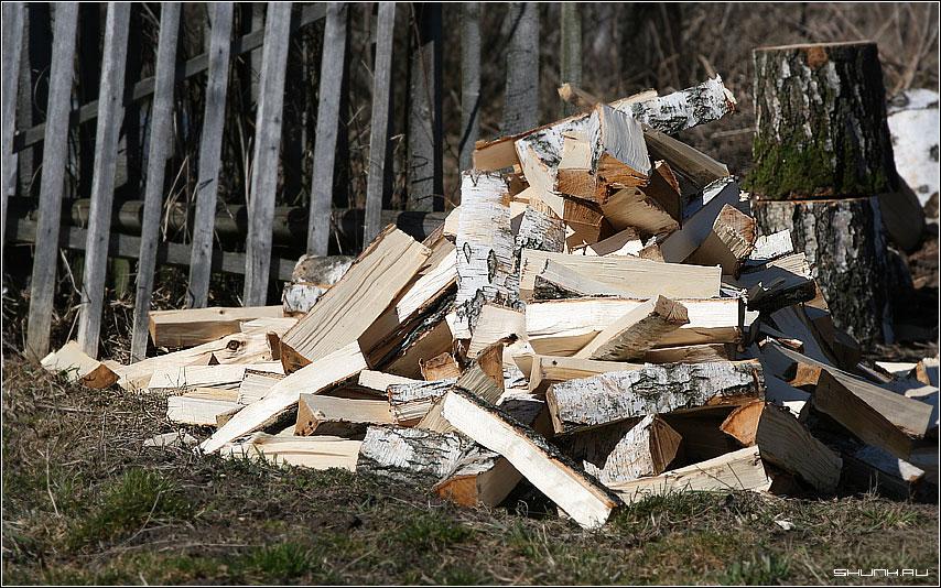 Дрова - дрова дровокол деревня фото фотосайт