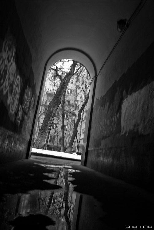 Весна, весна... - арка москва двор ручей фото фотосайт