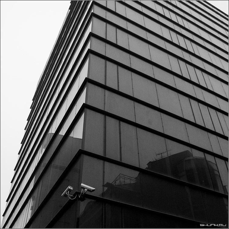 В порядке бреда - здание стена стекло камеры чернобелое квадрат фото фотосайт