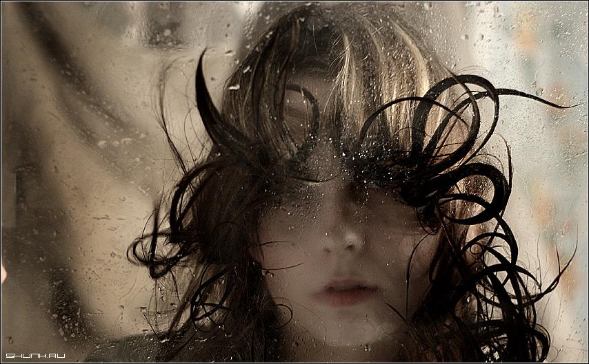 Водная стихия 2 - вода стекло волосы портрет фото фотосайт