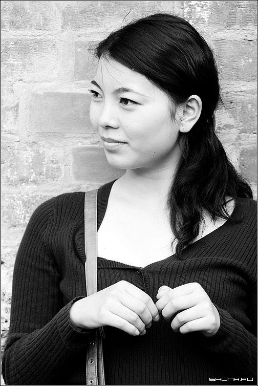 Фото черно белые девушек азиаток 10 фотография